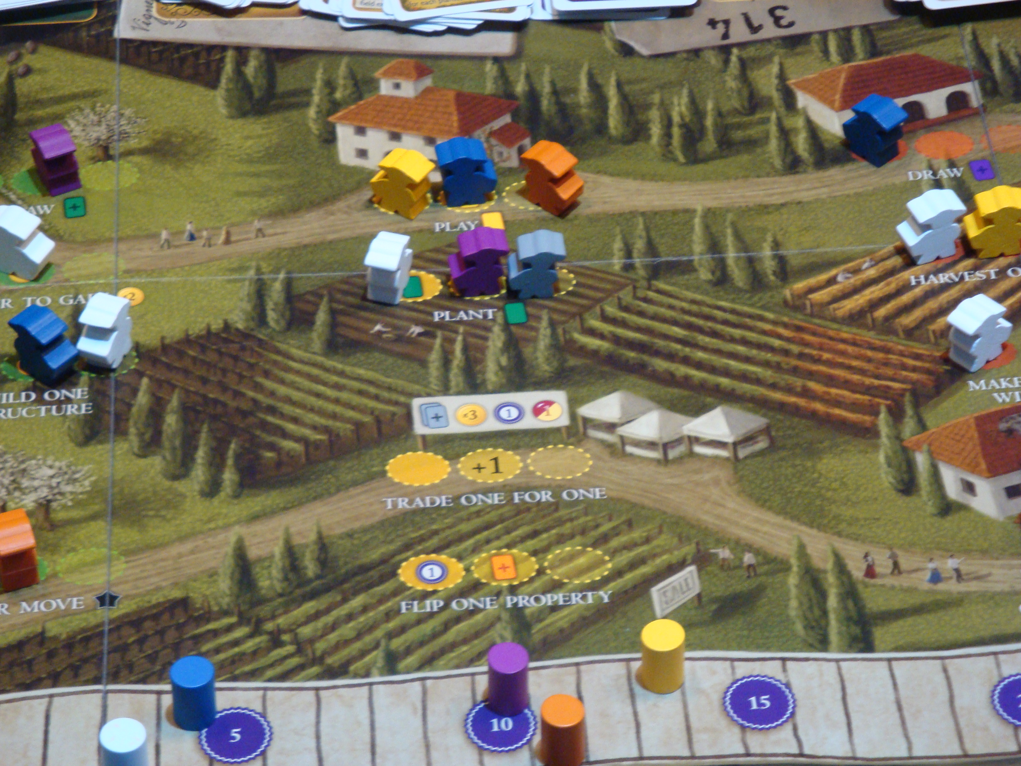 Meeples in Viticulture